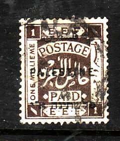 Palestine-Sc#48-used 1m dark brown-1922-
