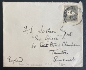 1941 Jerusalem Palestine Government House Official Cover To England Macmichael