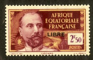 FRENCH EQUATORIAL AFRICA 117 MH SCV $4.00 BIN $1.75 PERSON