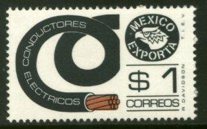 MEXICO Exporta 1116, $1P Electr Conductors 36mm Paper 7. MINT, NH. VF.