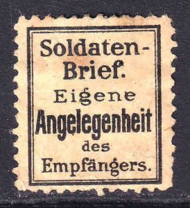 GERMANY UNLISTED SOLDATEN-BRIEF OG H M/M F/VF EIGENE ANGELEGENHEIT