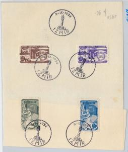 TURKEY - Stamps used on paper NOT FDC: Scott # 1130/3 Justice, Council of Europe