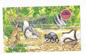 Malaysia 2006 Semi-aquatic animals S/S Sc 1114 MNH Bo22