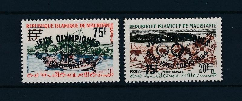 [43855] Mauritania 1962 Olympic games Overprint Rome Tokyo Unissued MNH