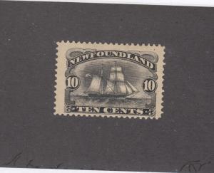 NEWFOUNDLAND # 59  FVF-MH  10cts  1894 SCHOONER / BLACK CAT VALUE $100