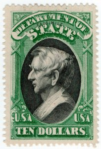 (I.B) US Postal Service : Department of State $10 (Senpf reprint)