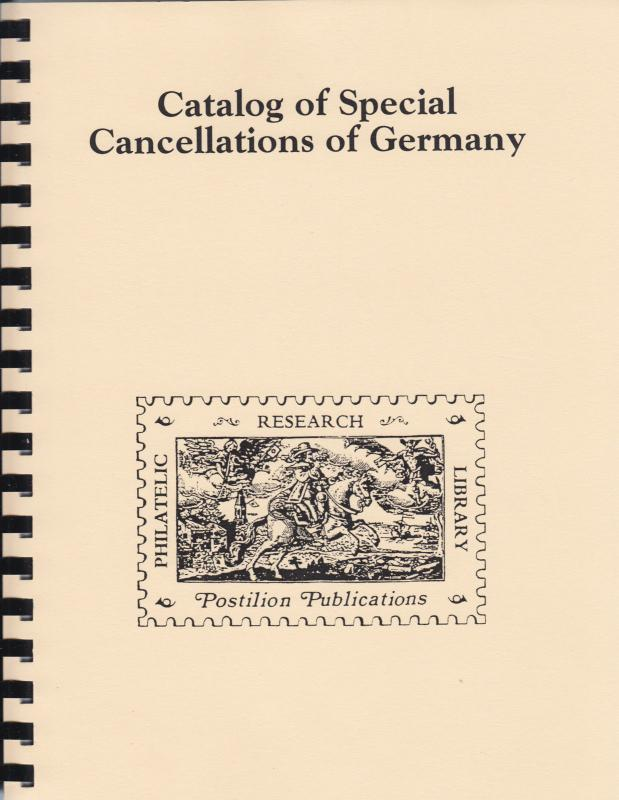 Catalog of Special Cancellations of Germany, by J. Bochmann. Reprint. NEW