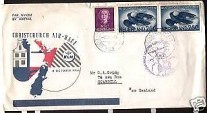 NETHERLANDS 1953 FLIGHT COVER LONDON TO NZ AIR RACE