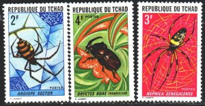 Chad. 1972. 511-13 from the series. Insects, fauna. MNH.