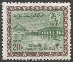 SAUDI ARABIA  1965 20p Dam  Sc 305  MLH F-VF, cv $13.50