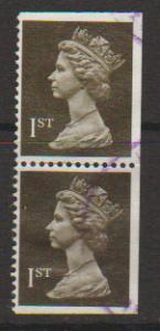 Great Britain SG 1450 Fine Used pair - perf 14