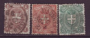 J24755 JLstamps 1896-7 italy set used #73-5 arms