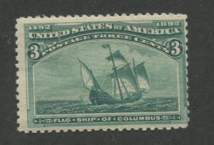1893 US Stamp #232 3c Mint Never Hinged Average Catalogue Value $130