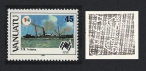 Vanuatu Freighter 'Induna' Ship 1v 45vatu Watermark variety SG#497w