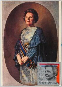 63601  -  NETHERLANDS - POSTAL HISTORY: MAXIMUM CARD 1973 -  ROYALTY