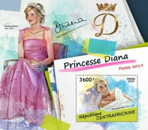 Central Africa - 2019 British Royalty Princess Diana - Souvenir Sheet CA190303b