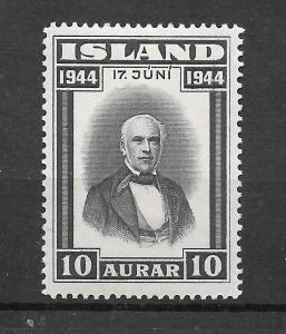 ICELAND MNH SC#240 JON SIGURDSSON SCV$.45