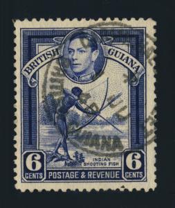 GUYANA / BRITISH GUIANA - 1948 - CARMICHAEL STREET SINGLE CIRCLE DS ON SG311
