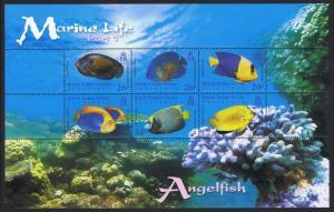 BIOT Angelfish Marine Life 1st series MS SG#MS353
