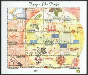 PK094 MICRONESIA VOYAGES OF THE PACIFIC 1KB MNH STAMPS