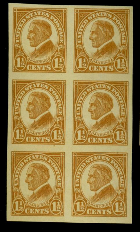 576 MINT Block of 6 VF OG NH Cat$18