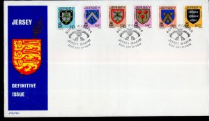 Jersey 257-262 Coat of Arms U/A FDC