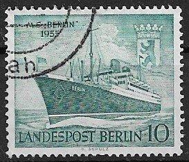 GERMANY Berlin - 1955 used   - MS Berlin