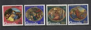 Grenada #341-4 comp mnh cv $1.40 Christmas