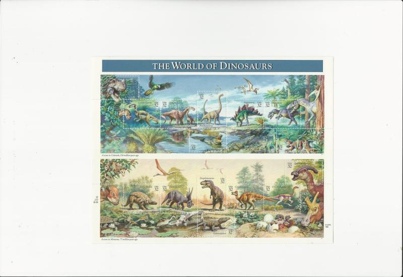World of Dinosaurs  Scott #3136