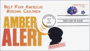 2015, Forget-Me-Not, Missing Children, B/W Postmark, FDC, 15-126