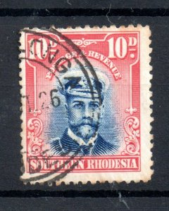 Southern Rhodesia 1924 10d Admiral SG9 fine used WS18723