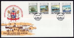 Falkland Islands 404-407 Lloyd's List U/A FDC