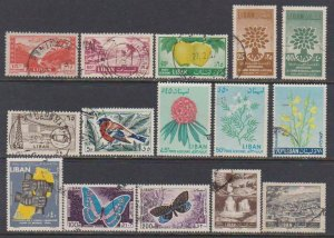 15 F-VF Used Lebanon Airmail & Regular - I Combine S/H