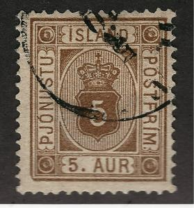 Iceland SC O5 Official Used F-VF SCV $19 Very Nice!