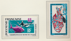 French Polynesia Stamps Scott #C-52 To C-53, Mint Never Hinged - Free U.S. Sh...