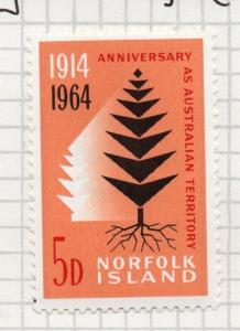 Norfolk Island 1964 Early Issue Fine Mint Hinged 5d. 096329