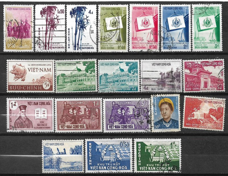 +COLLECTION LOT OF # 819 VIET NAM  20 STAMPS 1952+ MH CV+$20