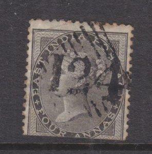 ADEN, 124 on India 1856 4a. Black.