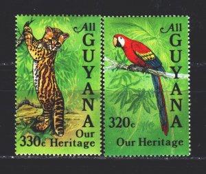 Guyana. 1984. 1305-6 from the series. Guyana fauna. MNH.