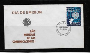 DOMINICAN REPUBLIC STAMP COVER #SEPTG7