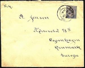 SINGAPORE STRAITS SETTLEMENTS 1931 GV 12c on cover to Denmark..............98607