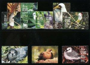 Pitcairn Islands 1995 QEII Birds set complete superb MNH. SG 462-473.