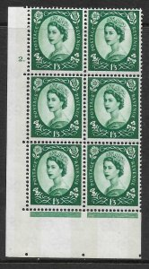 1/3 Wilding Violet Phosphor 9.5mm cyl 2 Dot perf type A(E/I) UNMOUNTED MINT