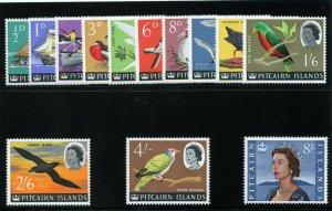 Pitcairn Islands 1964 QEII Definitives set superb MNH. SG 36-48. Sc 39-51.