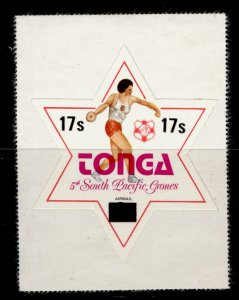 TONGA QEII SG645, 17s on 9s South Pacific games, NH MINT.