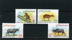 PHILIPPINES 1969 Sc#1006-1009 FAUNA/WLD ANIMALS SET OF 4 STAMPS MNH