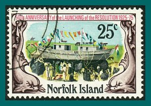 Norfolk Island 1975 Resolution, 25c used  #192,SG170