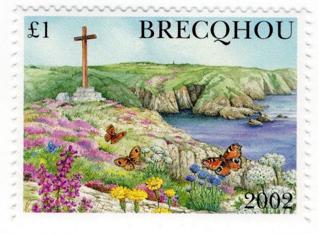 (I.B-JA) Guernsey Cinderella : Brecqhou Island £1