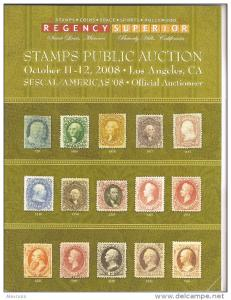 Regency Superior Stamps Auction Catalog 2008,VF