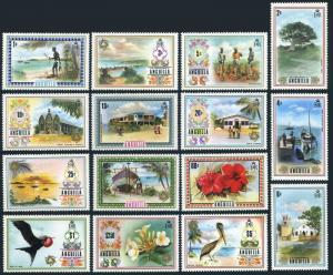 Anguilla 145-159,MNH.Mi 145-159. Fishing,Plants,St Marys,Church,Flowers,Birds,